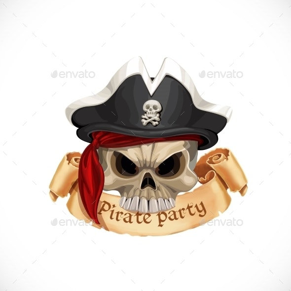 Pirate LAbel  - Seasons/Holidays Conceptual