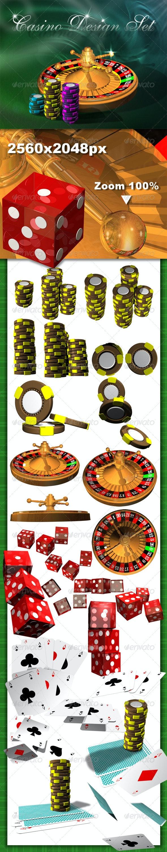 Casino Design Set - Objects 3D Renders
