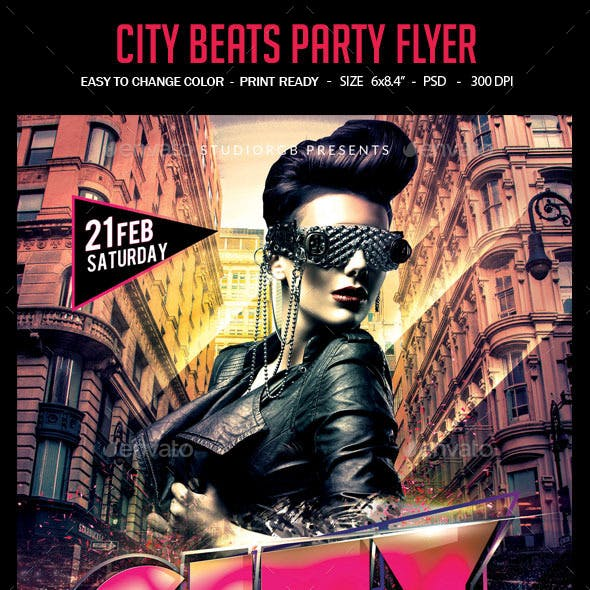 City Beats Party Flyer