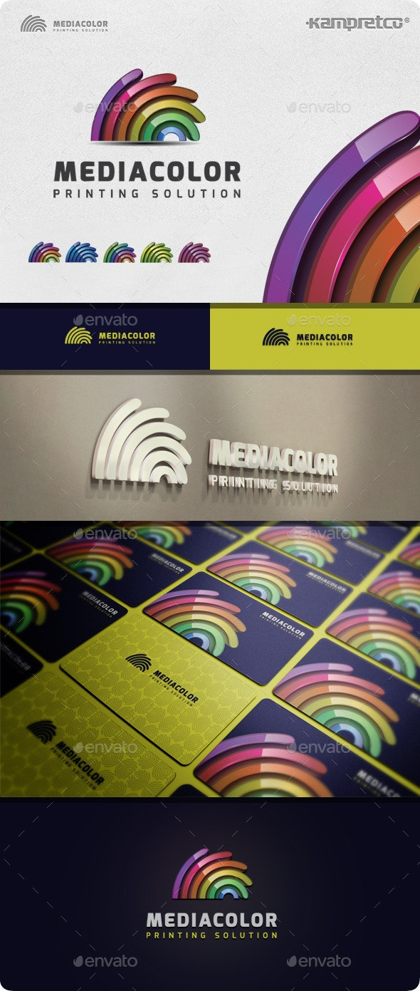 Media Colorful Logo - 3d Abstract