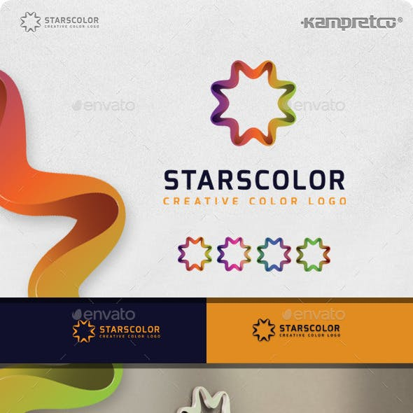 Stars Colorful Logo