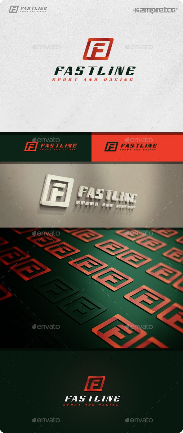 Letter F Logo - 3d Abstract