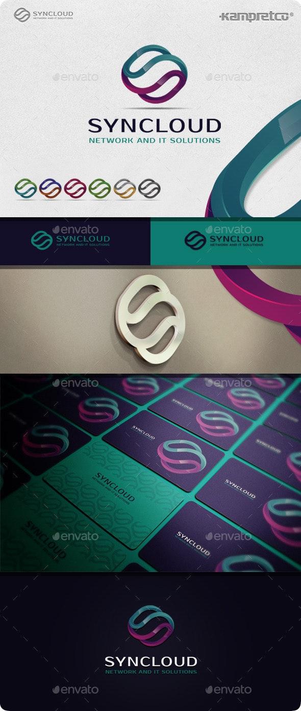 Sync Cloud Logo - 3d Abstract