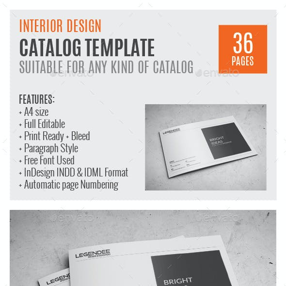 Interior A4 Indesign Catalog Template 0046