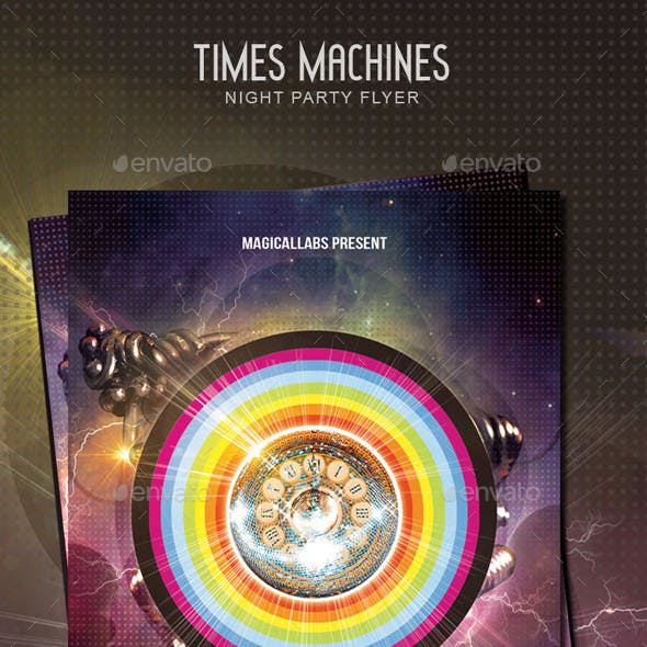 Times Machines Flyer Template