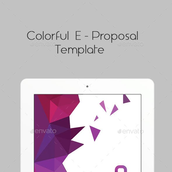 Colorful E-Proposal Template