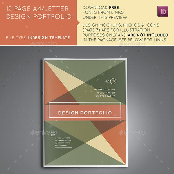 12 Page A4/US Design Portfolio/Brochure