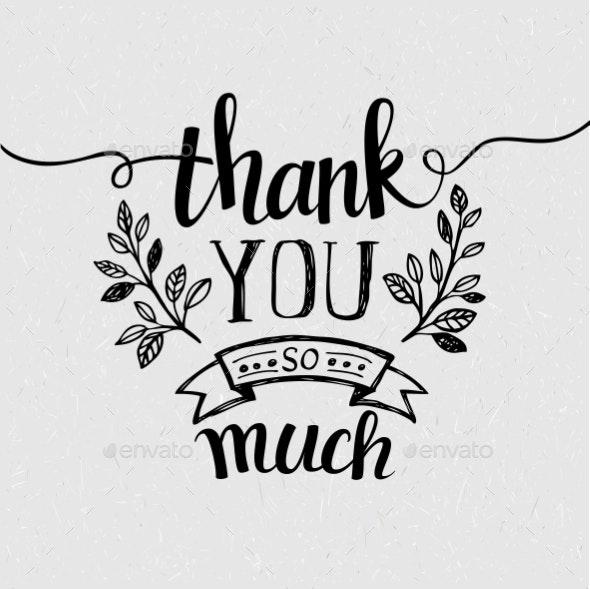 Lettering Thank You - Miscellaneous Vectors