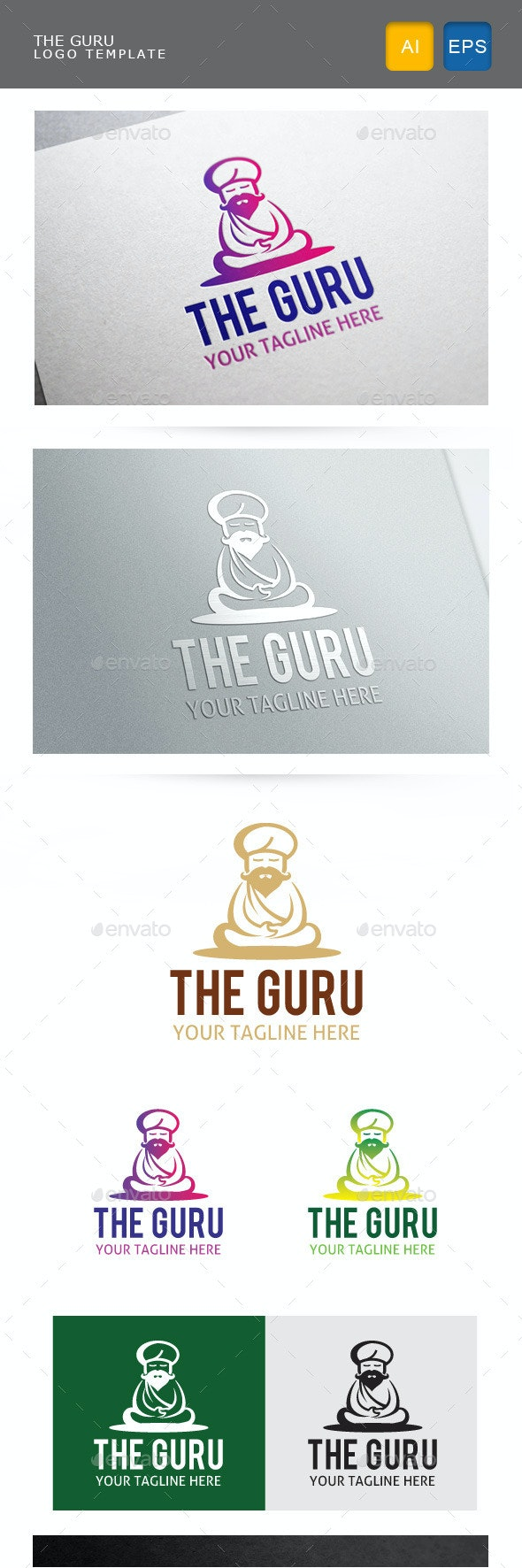 The Guru - Humans Logo Templates
