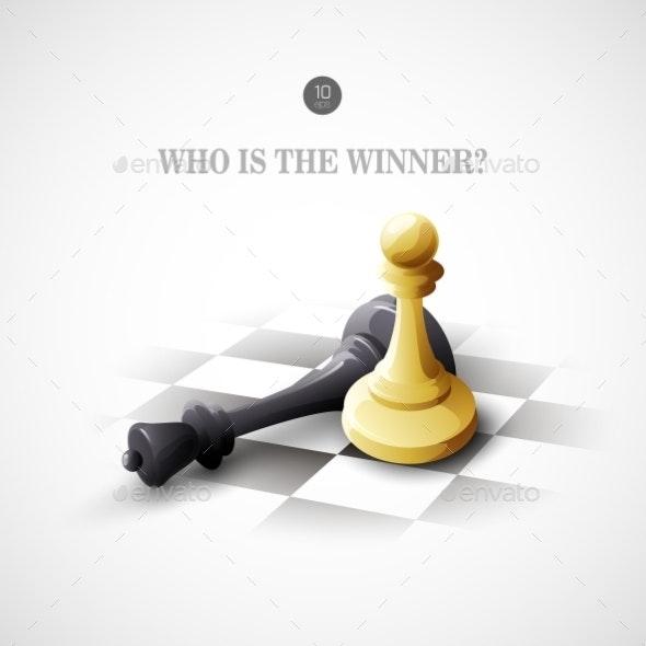 Winning Chess Concept - Conceptual Vectors