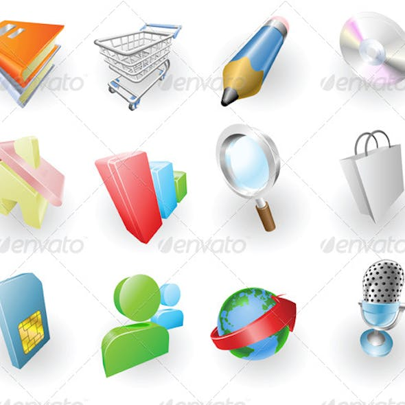 Dynamic Colour Web and Application Icon Set