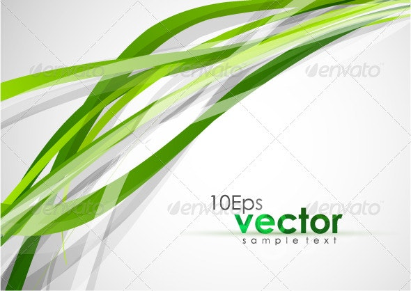 Abstract wavy green lines - Backgrounds Business