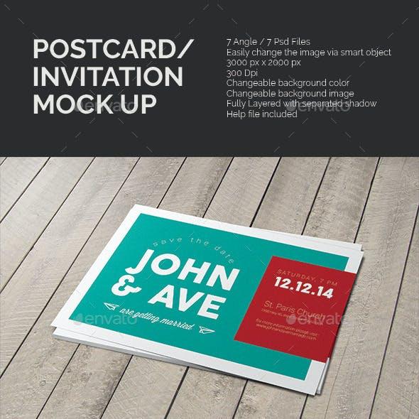 Postcard & Invitation Mock-up