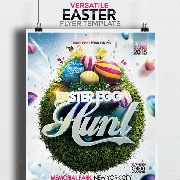 Versatile Easter Flyer Template