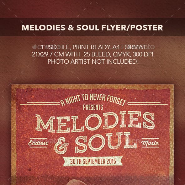 Melodies & Soul Flyer/Poster