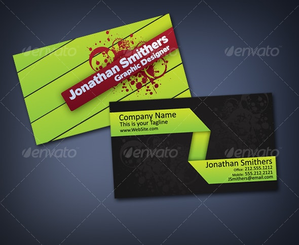 New Green Grunge Style Business Card - Creative Business Cards