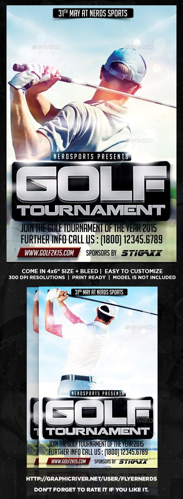 Golf Tournament Sports Flyer - Sports Events