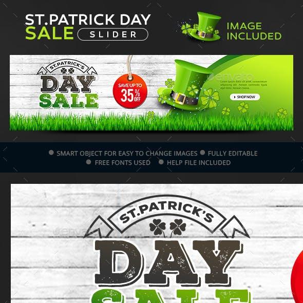St Patrick Day Sale Slider