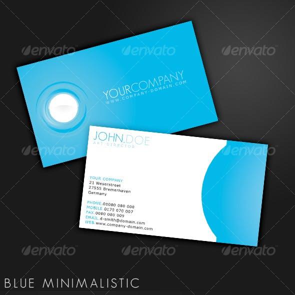 Minimalistic Blue - Business Card