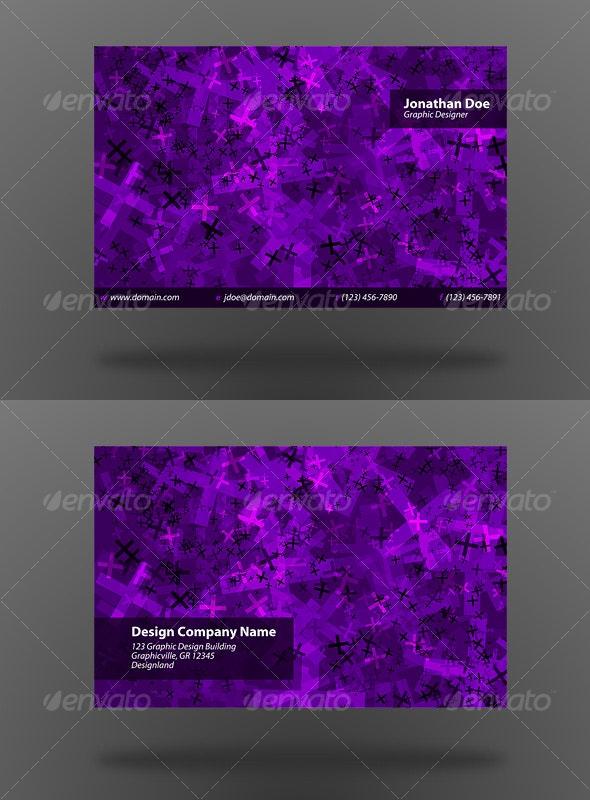 Cross Back Business Card - Creative Business Cards