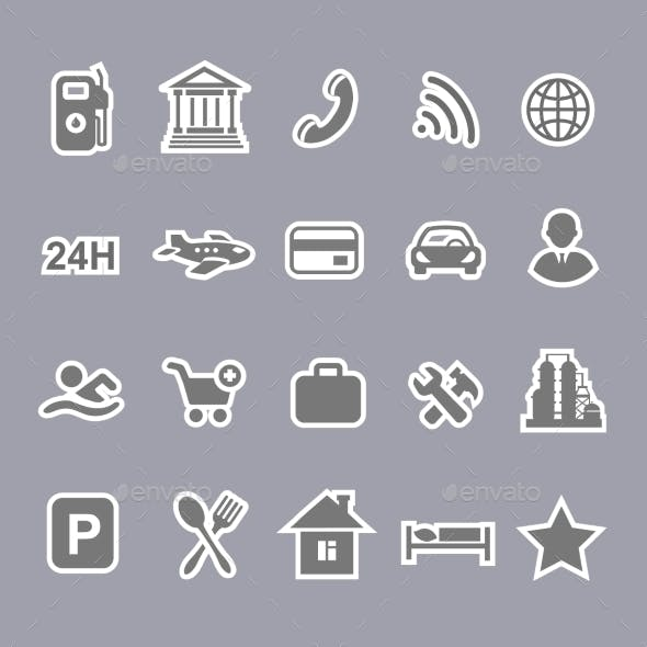 Icons for Locations and Services