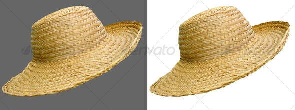 Handmade straw hat - Clothes & Accessories Isolated Objects