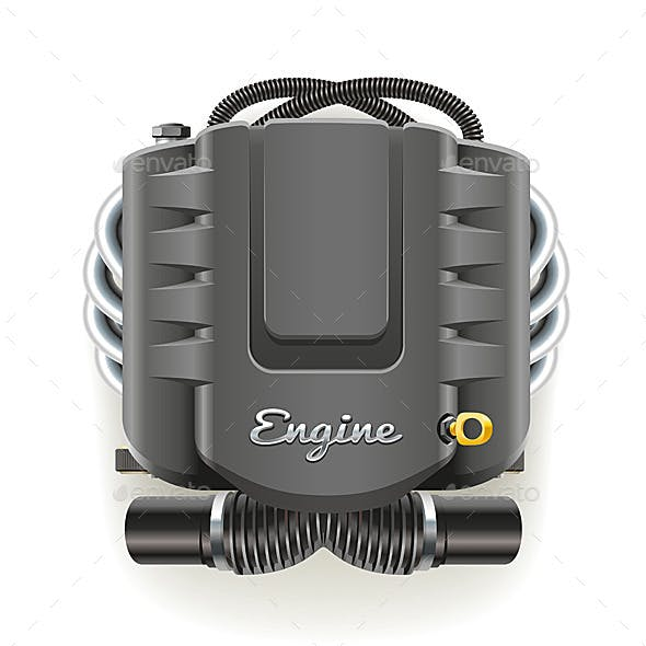 Engine with Cover
