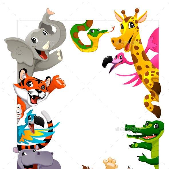Group of Jungle Animals