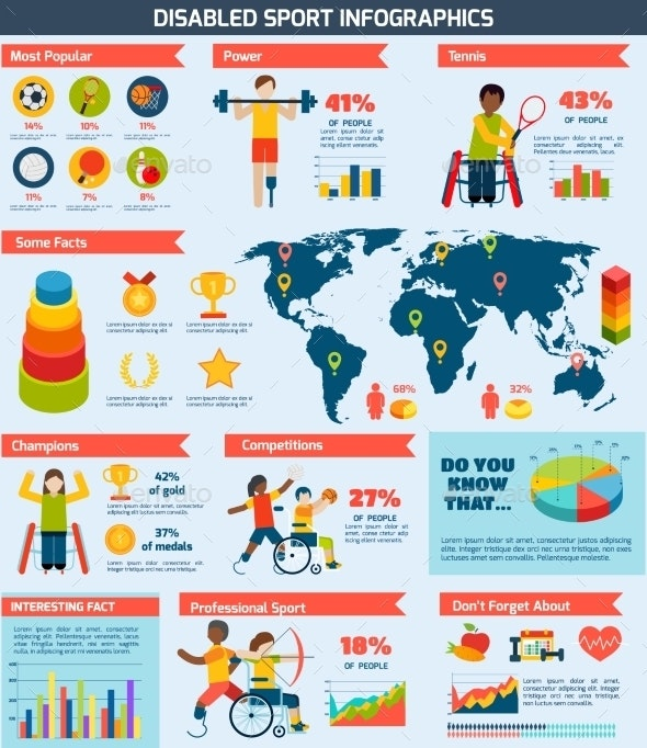 Disabled Sports Infographics - Infographics
