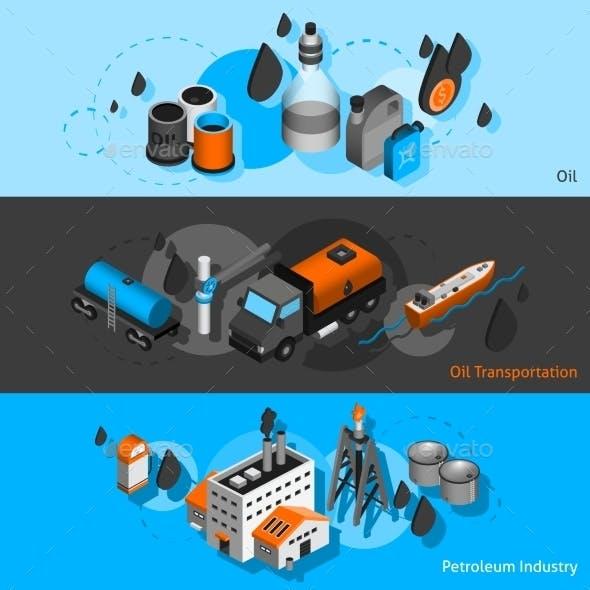 Petroleum Isometric Banners