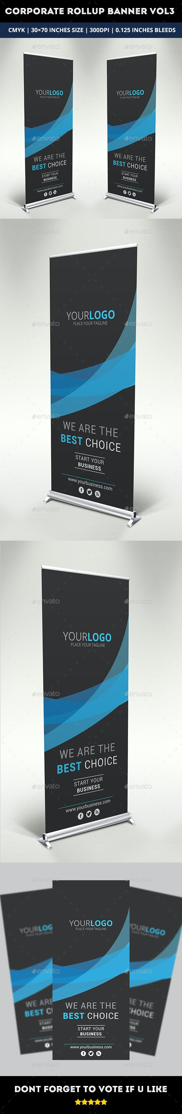 Corporate Rollup Banner Vol 3 - Signage Print Templates