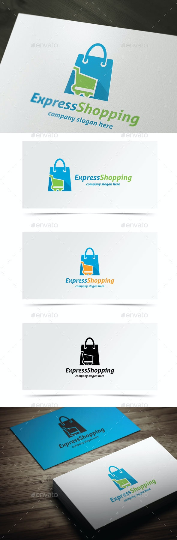 Express Shopping - Objects Logo Templates