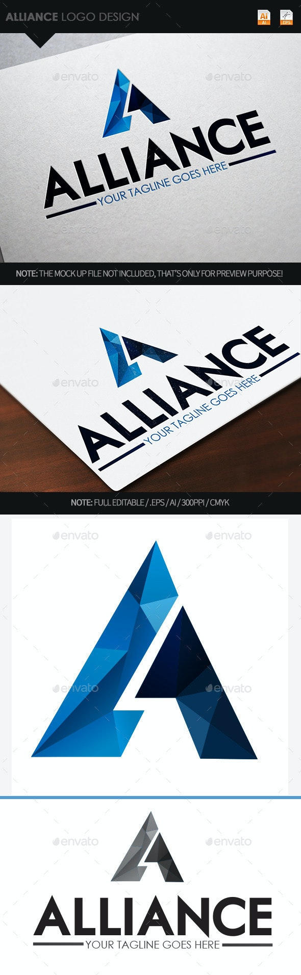 Alliance Logo Design - Letters Logo Templates