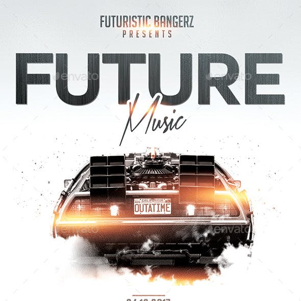 Future Music | Flyer PSD Template