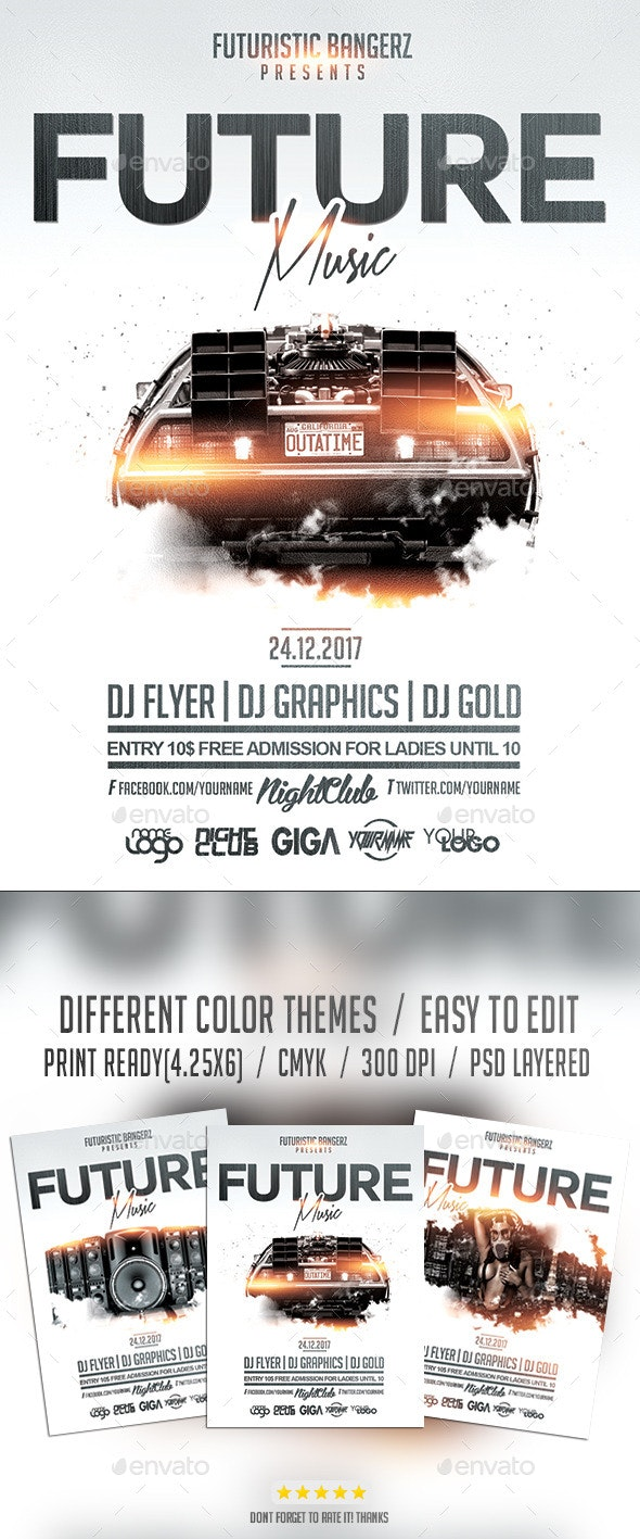 Future Music | Flyer PSD Template - Events Flyers