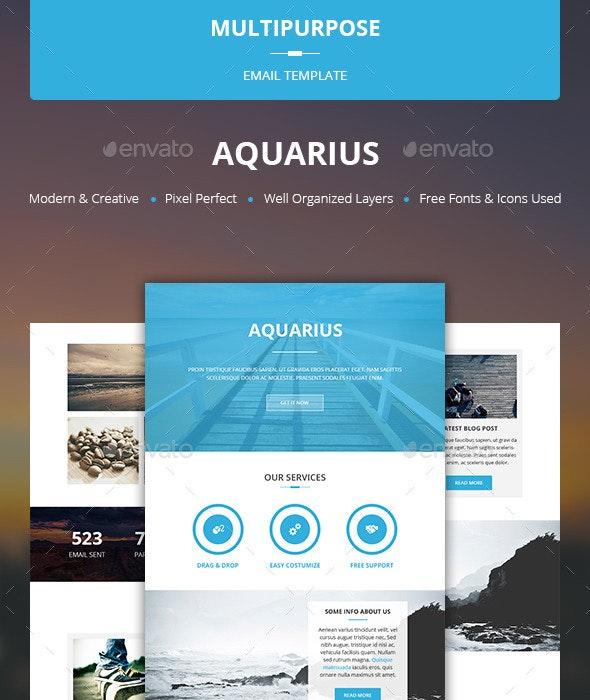 Aquarius - Multipurpose Email Template