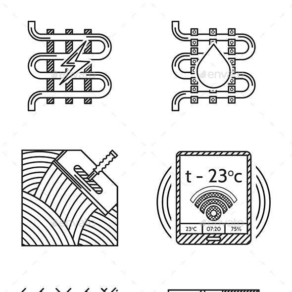 Heated Floor Icons