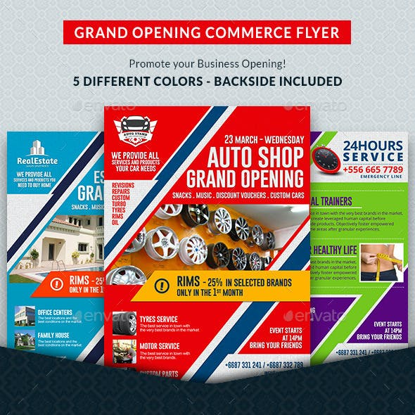Agency & Shop Grand Opening Commerce Flyer