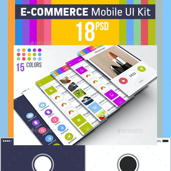 E-commerce Mobile UI Kit