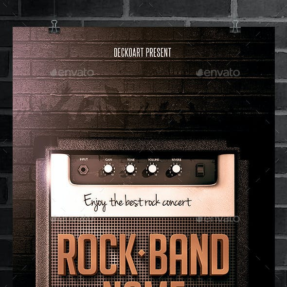 Rock Band Flyer