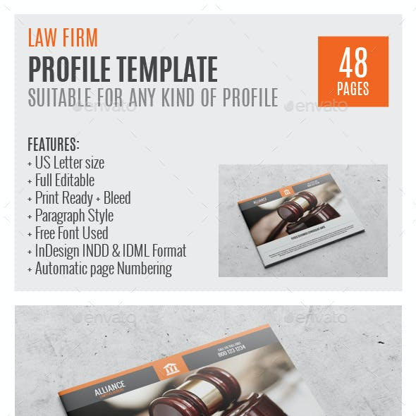 Law Firm US Letter Profile Template 0048