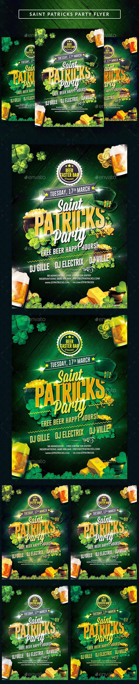 Saint Patricks Party Flyer - Clubs & Parties Events