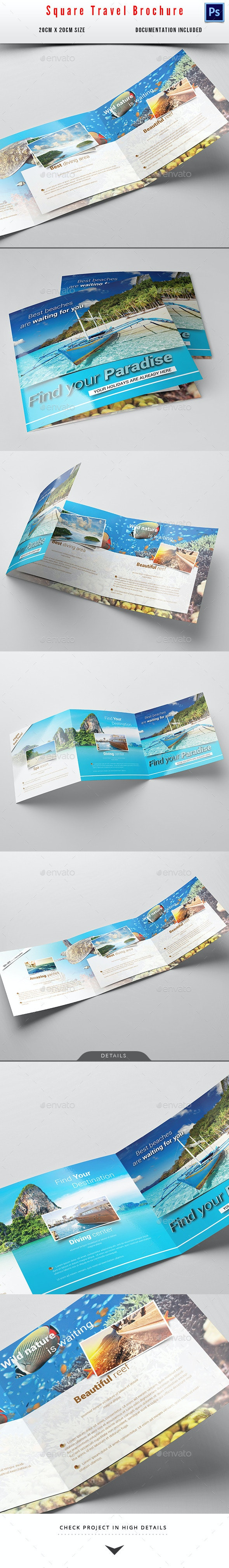Square Travel / Holiday Brochure - Informational Brochures