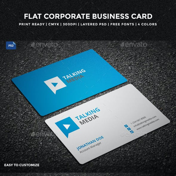 Flat Corporate Business Card - 13