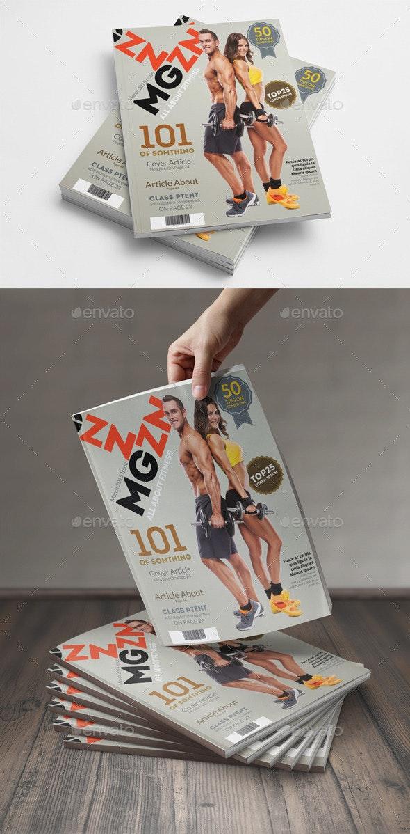 Magazine Cover Template - Magazines Print Templates