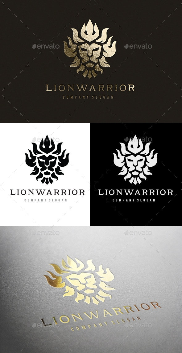 Lion Warrior - Crests Logo Templates