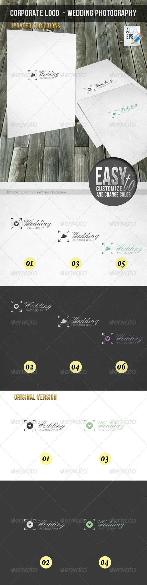 Corporate Logo - Wedding Photography  - Objects Logo Templates