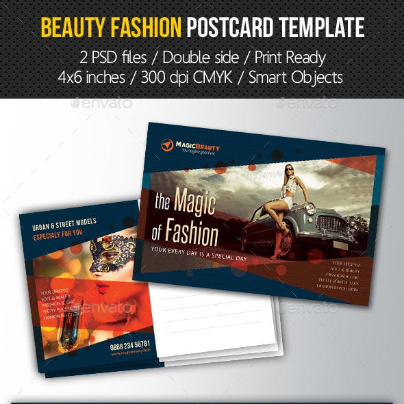 Beauty Fashion Postcard V03