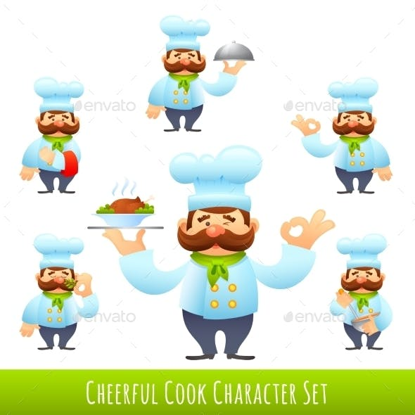 Cook Cartoon Characters