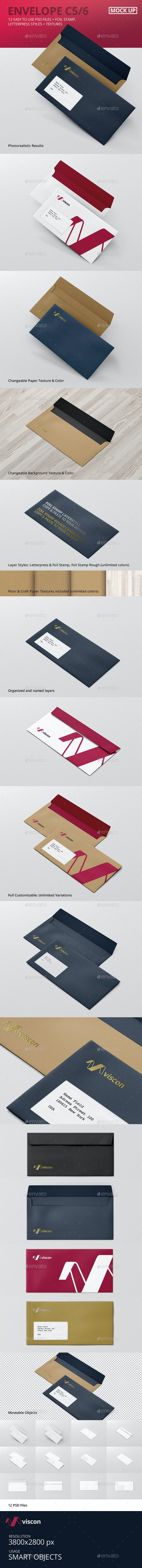 Envelope C5 / 6 Mock-Up - Stationery Print